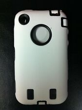 Dual Flex Hard Hybrid Gel Case for iPhone 3G / 3GS - White/Black