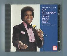 Roberto Blanco cd EIN BISSCHEN SPASS MUSS SEIN © 1987 - CBS 460040 2 early press