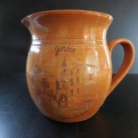Pichet cruche broc poterie terre cuite grès Gorbio Village Sarrasin France N6402