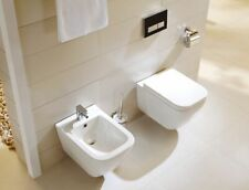 Komplett Set Hänge Wand Toilette WC mit Soft Close Sitz + Hänge Wand Bidet