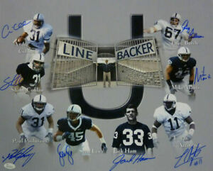 Penn State Linebacker U Autographed 16x20 Photo 8 Sigs Ham Lee JSA 12719