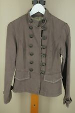 Vintage Neslay 80's Brown Metal Button Light Weight Cotton Jacket L Large