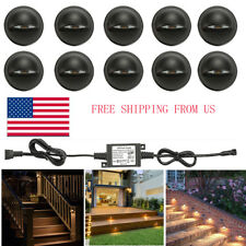 10X35mm Warm White Half Moon Outdoor Yard Stair LED Decking Step Fence Lights