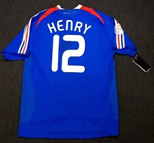 THIERRY HENRY FRANCE HOME SIGNED JERSEY + COA - SOCCER 2008 EURO CUP SHIRT
