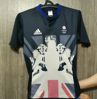 ADIDAS TEAM GB CYCLING JERSEY GREAT BRITAIN OLYMPIC SHIRT EXCELLENT MENS SIZE S