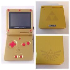 New! Custom Nintendo Gameboy Advance SP-Zelda-Red Buttons- AGS-101 -Brighter!