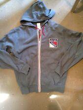 New York Rangers Men's XX Large Full Zip Hooded Sweatshirt . NHL Hockey Hoodie