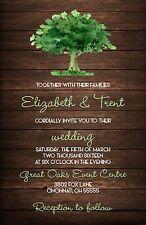 Wedding Invitations Tree & Wood Rustic Country 50 Invitations & RSVP Card