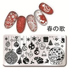 Nail Art Stamping Plate BORN PRETTY Christmas Snowflakes Snowman Tree BPX-L001