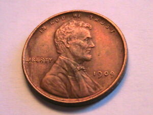 1909 Nice Sharp aXF Lincoln Wheat Cent Nice Brown Tone 1 Penny Bronze US Coin
