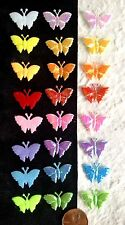 80 Butterflies butterfly lot Fabric iridescent party Embellishment picnic cards