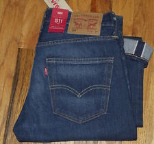 NWT Levi's 511 Slim MADE IN USA White Oak Cone SELVEDGE Denim Jeans 31X34 $158