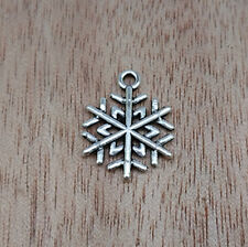 NEW Jewelry Findings,Charms,Pendants, Ancient Silver snowflake  20pcs