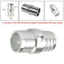 "1-1/4"" Hose w/ 1/8"" NPT Steam Port Adapter Top Radiator LS Swap Coolant Aluminum"
