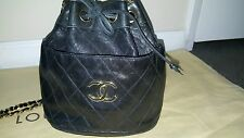 AUTHENTIC VINTAGE CHANEL BUCKET CROSS BODY BAG EXCELLENT