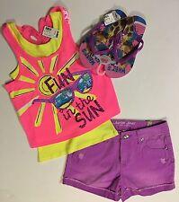 NWT Justice Girls Summer EssentialsTank//Dolphin Shorts Size 67 8 10 12 14 16