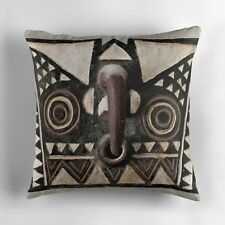 EXCLUSIVE AFRICAN BOBO BWA HAWK MASK DESIGN THROW PILLOW ~ Stunning Unique