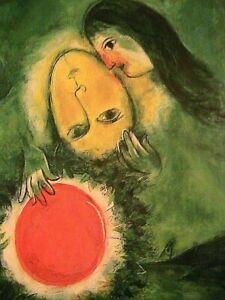 "1949 Marc Chagall ""Green Landscape"" Post Card 6.3 x 4.5 Small Modern Art Print"