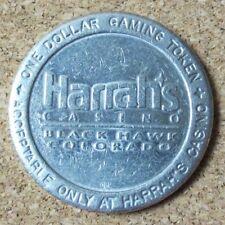 Vtg Harrah's Casino Black Hawk Colorado $1 One Dollar Gaming Token Coin (Pg1734)