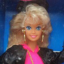 """Vintage 1991 rappant """"Rockin 'Barbie Doll Comme neuf in légèrement usé Box"""