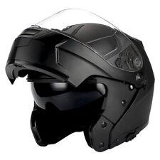 1Storm DOT Motorcycle Modular Full Face Helmet Flip up Dual Visor Matt Black