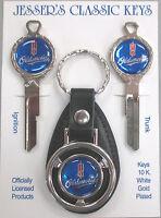 Blue Oldsmobile Rocket B-50-C Deluxe Classic Key Set 1968 1972 1976 1980