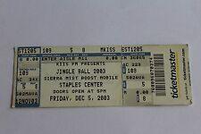 Britney Spears Beyonce Jennifer Lopez Kelly Clarkson Ticket  - FREE SHIPPING -