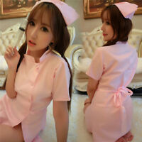 Nurse Uniform Sexy Womens Lingerie Dress Panty  Cosplay Role Play Costume GT