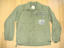 Vietnam War USN A-2 Deck Jacket post war USS KITTY HAWK PATCH M-41 Sz 42 NAMED