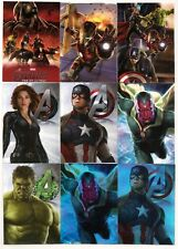 Avengers: Age of Ultron Sticker Lot (9 Cards)W/Hulk-Cap-Iron Man-Black Widow+