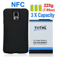 TQTHL 11800mAh Extended Battery + Black Case F Samsung Galaxy Note 4 SM-N910A