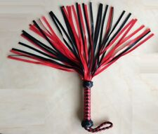 Cowboy Thicker 40 Bushy Tassel Red Whip Flogger Dungeon Fetish Spanking Padle