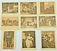 Wills Cigarettes Celebrated Pictures -  Lot of 8 Cigarette Cards