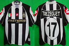 2002-2003 Juventus Juve Jersey Shirt Maglia Home FASTWEB Lotto Trezeguet #17 L