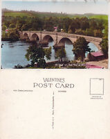 1930's BRIDGE OVER THE TAY DUNKELD PERTH & KINROSS SCOTLAND COLOUR POSTCARD