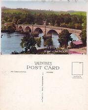 1930's BRIDGE OVER THE TAY DUNKELD PERTH & KINROSS SCOTLAND COLOUR POSTCARD