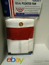 Lot of 4 - U.S.A. Pleated Fan 1.5 ft. x 3 ft. Poly/Cotton Fan 013117223