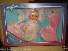 GABAR muneca doll poupee PAOLINO CON CORREDINO OUTFIT neonato bebè baby rosa
