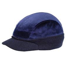 4 PANEL VELOUR WINTER CAP - Navy