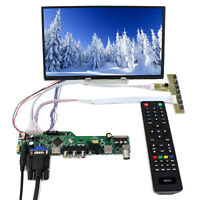 "TV HDMI VGA AV USB AUDIO LCD Controller Board 10.1"" B101XAN01 1366x768 IPS LCD"