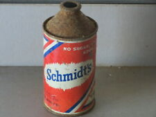 """SCHMIDTS  BEER. """"NO SUGAR ADDED"""".   SOLID. COLORFUL. IRTP. CONE TOP"""