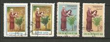 Vietnam du Sud Révolutionnaire - GRP 1975 Hô Chi Minh 4 timbres oblitérés /T8281