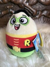 Official Licensed DC Super Heroes 'Robin' Egg Head Soft Plush Teddy. 15cm BNWT