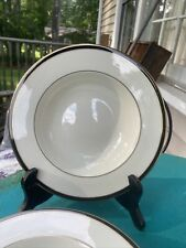 "New listing Lenox Urban Lights Porcelain 8"" Soup Bowl Dish Gold Black Band Set Of 4 Four"