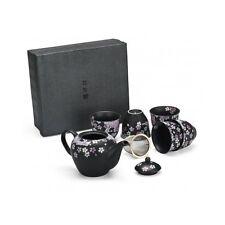Japanese Tea Gift Set 6 Piece 5 Cup 1 Teapot Handcrafted Kitchen Serveware Decor