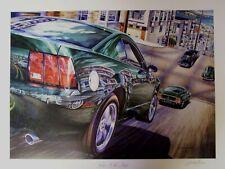 2001 FORD BULLITT MUSTANG ART 1968 DODGE CHARGER SAN FRANCISCO CHASE MAN CAVE