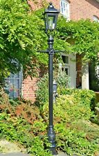 USED Ex-Display Cast Iron and Steel Garden Lamp Post Set Period Light - 2.7m