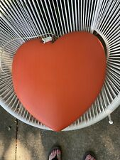 """Valentine's Day Blowmold Lighted Large Red Heart 1995- 20"""""""