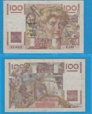Gertbrolen 100 Francs JEUNE PAYSAN Type 1945 Filigrane Inversé 4-3-1954  E.590