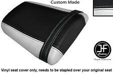 WHITE & BLACK VINYL CUSTOM FOR HONDA CBR 600 RR5 RR6 05-06 REAR SEAT COVER ONLY